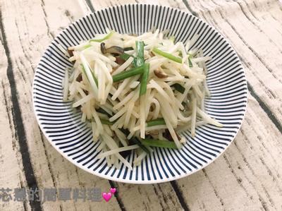 韭菜香菇炒銀芽