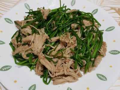 蒜香水蓮金針菇