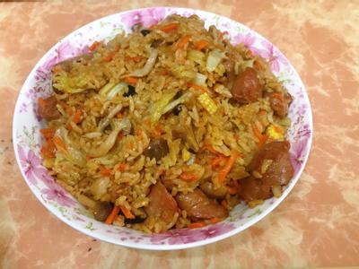 麻油高麗菜菇菇飯(電子鍋版本、電鍋亦可)