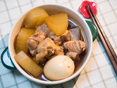 日式蘿蔔雞肉煮物