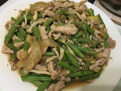炒蔬菜肉絲