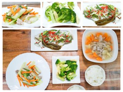炒綠花椰、剝皮辣椒嫩煎鱈魚-美味低溫料理
