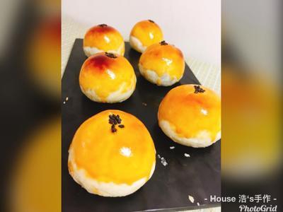 金色色蛋黃酥(烏豆沙)