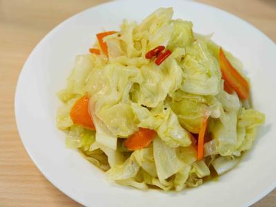 蒜炒高麗菜