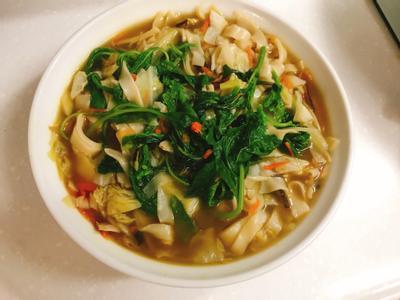 水餃皮什錦麵