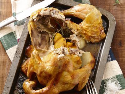 西式料理 蜜桃烤全雞