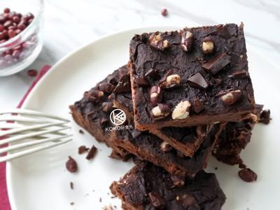 特濃紅豆巧克力布朗尼(無糖無麩質)