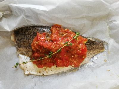 低醣料理 <海鮮> 地中海紙包魚