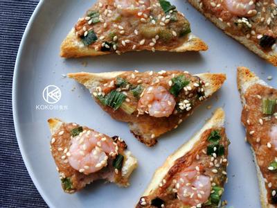 芝麻蝦餅風味吐司(早餐、派對點心)