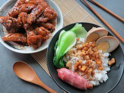 豬油拌飯與可樂雞翅