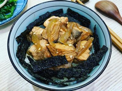 醬燒鮭魚丼