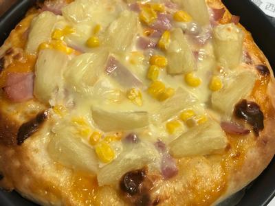 千島夏威夷薄餅披薩prizza