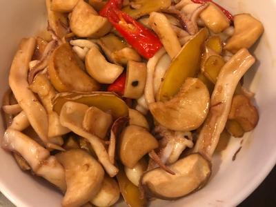 醬燒花枝杏鮑菇