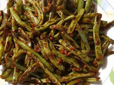 炒醬油四季豆