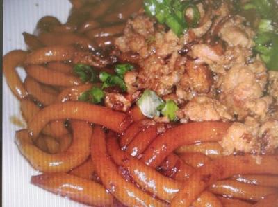 乾撈肉碎老鼠粉/米苔目