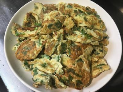 芹菜葉菜脯蛋(蛋奶素)