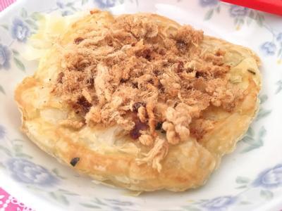 懶人料理:沙茶肉鬆蔥油餅