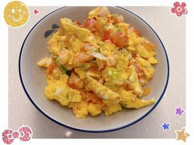 寶寶餐車-番茄蝦仁滑蛋拌飯