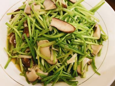 麻油水蓮炒鮮菇