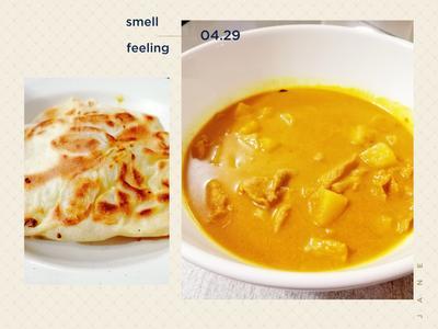猪肉curry配洋葱煎饼