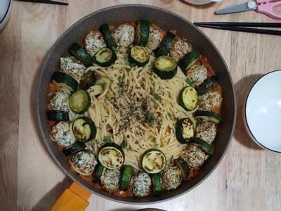 茴香雞肉丸義大利麵