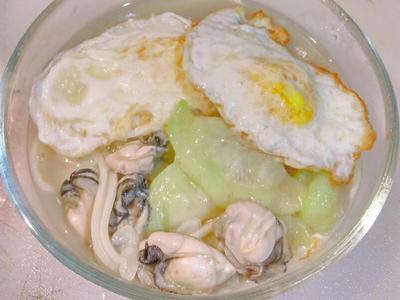 麻油絲瓜牡蠣麵