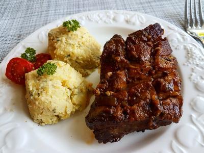 BBQ烤豬肋排/芥末馬鈴薯泥的照片