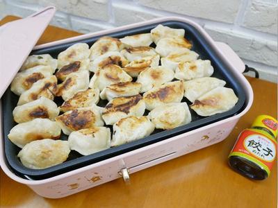 電烤盤「煎餃」免開火也一樣恰恰好吃 ♪