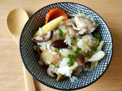 雞肉菇菇蔬菜炊飯 (大同電鍋)