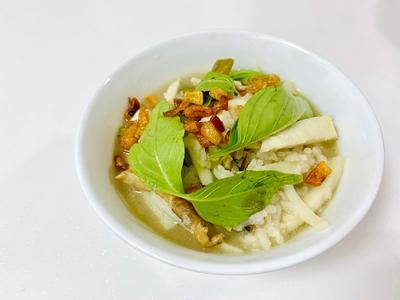 夏日限定☀️竹筍菜豆鹹粥