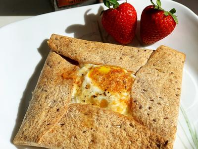 ☀️太陽蛋信封墨西哥餅-10分鐘快速早餐