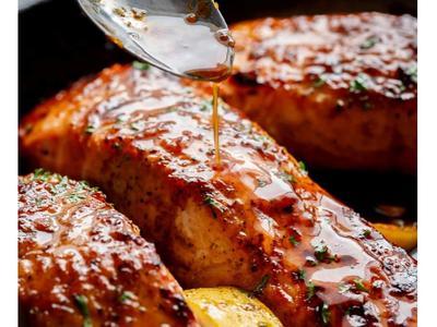 蜂蜜蒜香三文魚