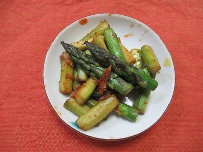 日式味噌煮蘆筍