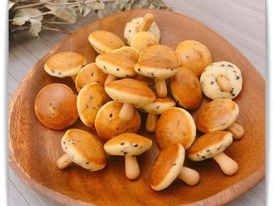 萌萌的「香菇鬆餅」蜂蜜滋味可愛又可口。