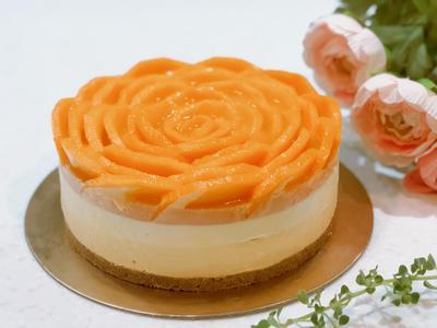 芒果玫瑰雙層生乳酪(免烤箱)