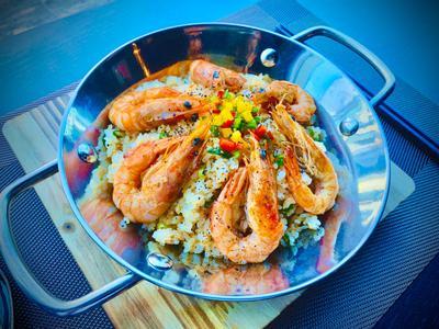 蒜香鮮蝦飯