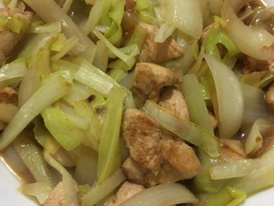 白韭菜洋蔥炒雞胸肉