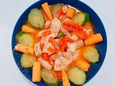 番茄鮮蔬雞胸肉片