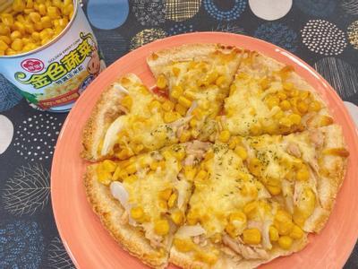 玉米鮪魚蛋餅pizza
