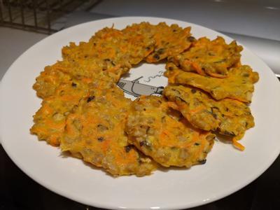 小豬菇菇紅蘿蔔煎餅(寶寶食譜)