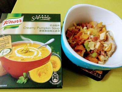 香甜南瓜濃湯麵