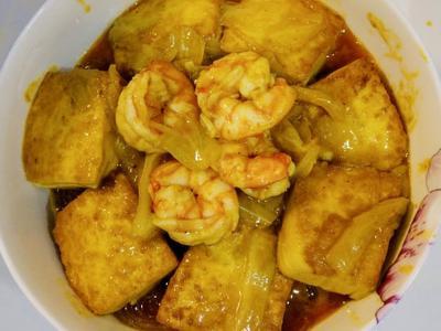 咖哩鮮蝦粉絲煲w/牛頭牌咖哩炒醬