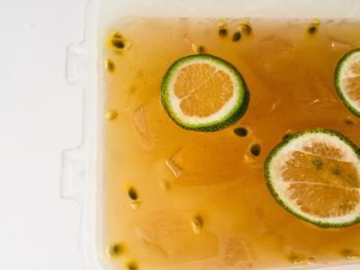 蜂蜜檸檬百香愛玉綠茶