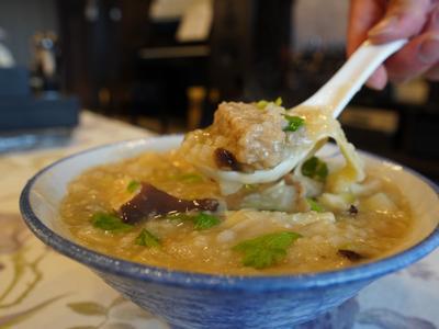 筍香肉絲鹹粥 (純素/含酒)