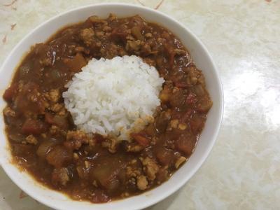 番茄肉醬風味咖喱飯