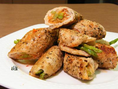 泡菜蘆筍肉捲