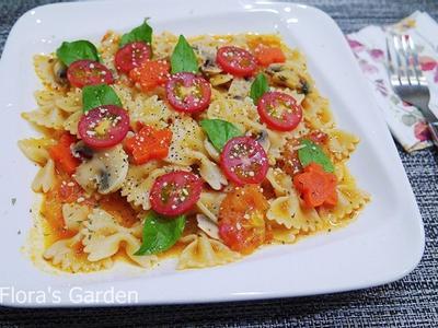 電鍋做整顆番茄義大利麵