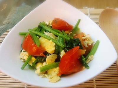 菠菜番茄炒蛋