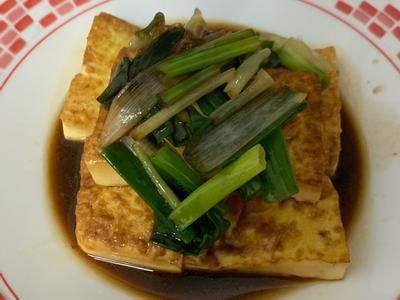 蔥燒雞蛋豆腐的照片