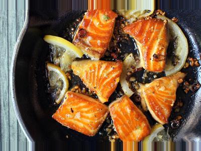 蜂蜜大蒜鮭魚